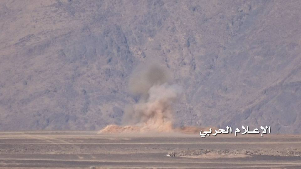 تدمير آلية سعودية بموقع الشرفة بنجران