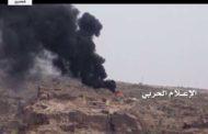 طيران العدوان يستهدف تجمعات لمرتزقته بالقرب من منفذ علب الحدودي بعسير