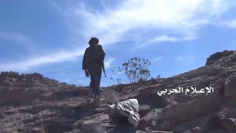 شاهد| جولة للإعلام الحربي في موقع النمصاء السعودي بعسير ومشاهد الغنائم وجثث قتلى الجيش السعودي 11-11-2016