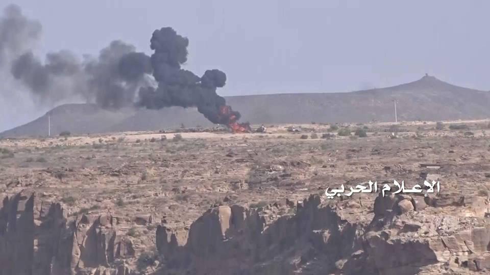 اعطاب دبابة سعودية في منفذ علب بعسير