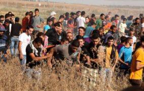 إصابة شاب فلسطيني بمواجهات شرق غزة