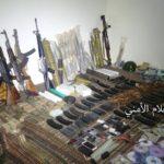 ضبط كمية من العبوات الناسفة والأسلحة في منزل أحد عناصر خلية إجرامية بعمران