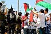 قوات العدو الصهيوني تقمع مسيرة قرية بلعين مناوئة للاستيطان والجدار العنصري.