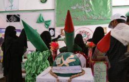 افتتاح معرضين في مدرستي التوحيد والقص بمديرية صعدة بمناسبة المولد النبوي الشريف
