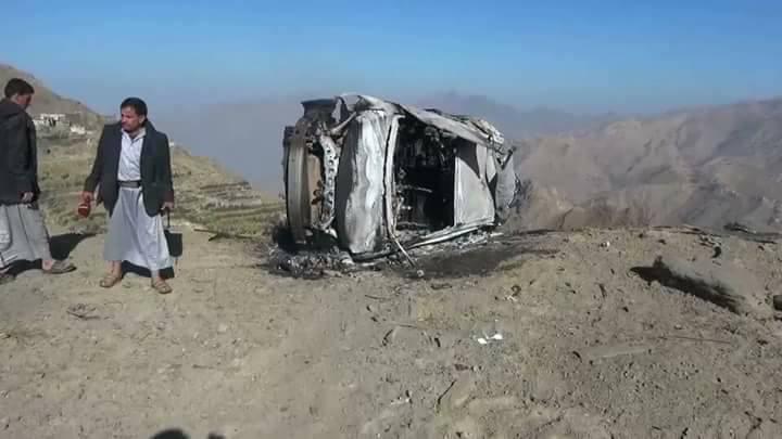 استشهاد مواطن وإصابة آخر في غارات لطيران العدوان على مديرية كتاف بصعدة