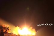 شاهد- لحظة إطلاق بركان2 الباليستي على قاعدة الملك سلمان الجوية في الرياض