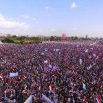 فعالية جماهيرية حاشدة في ميدان السبعين بمناسبة الذكرى السنوية الثانية للصمود في وجه العدوان