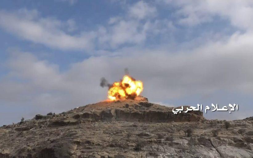 تدمير مدرعة وآلية سعودية في قطاع نجران