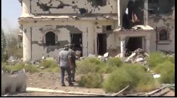 شاهد-مظاهر حقد الطيران السعودي في تدمير قرية الحثيرة السعودية 13-05-2017