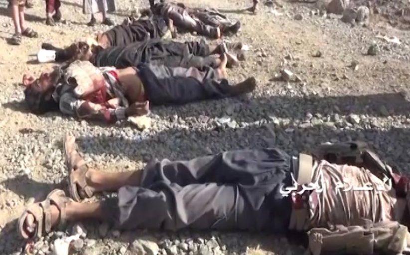 شاهد|| خسائر قوى العدوان خلال صد أبطال الجيش واللجان الشعبية زحف في الوهبية بمحافظة البيضاء (فيديو)