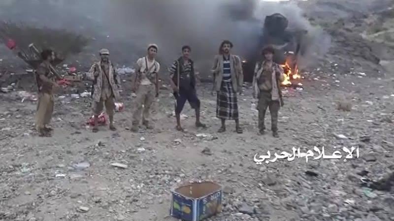 الاعلام الحربي يوزع مشاهد توثق خسائر قوى العدوان في مديرية موزع بتعز