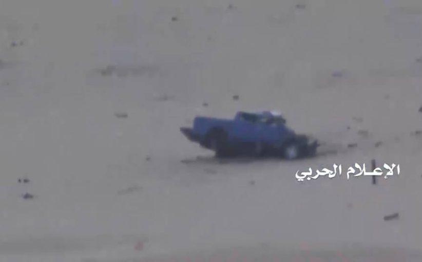 تدمير طقم عسكري ودك مواقع الجيش السعودي في نجران وجيزان