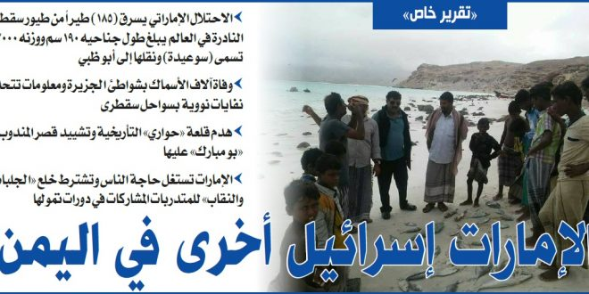 سقطرى تحت الاحتلال.. نهب وتجريف واستيطان في مناطق تأريخية
