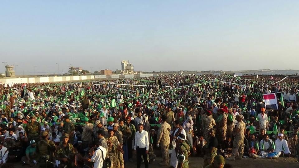 فعالية جماهيرية حاشدة في محافظة الحديدة بمناسبة المولد النبوي الشريف