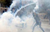 مواجهات مع العدو الاسرائيلي على جسر حلحول شمال الخليل