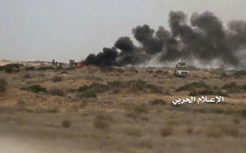 الإعلام الحربي يوزع مشاهد للخسائر الكبرى لقوى الغزو شمال صحراء ميدي(فيديو)