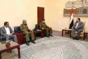 الرئيس الصماد يلتقي وزير الداخلية والمفتش العام