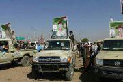 أسرة الشهيد اللواء حسين السقاف تقدم قافلة غذائية لأبطال الجيش واللجان الشعبية