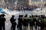 إصابة 7 فلسطينيين واعتقال 10 طلاب خلال مواجهات مع الاحتلال في قرية المغير شرق رام الله