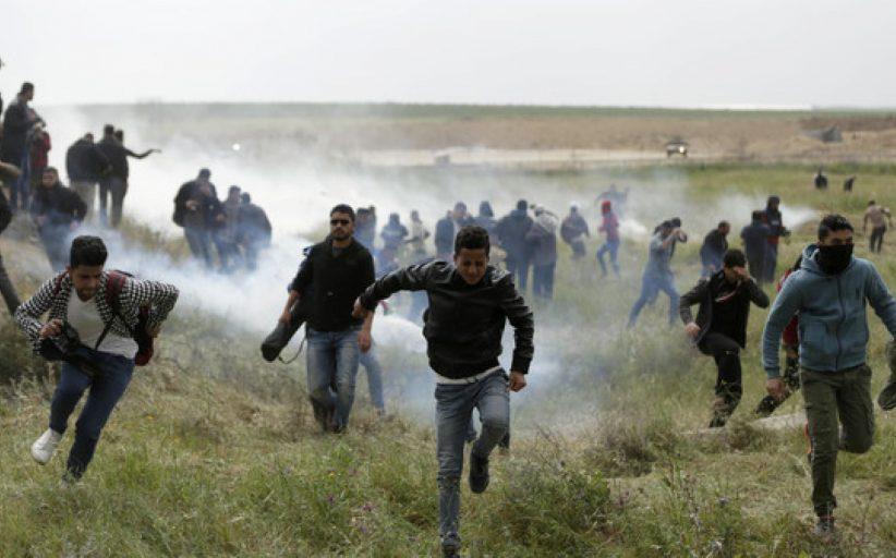 اصابة ثلاثة فلسطينيين برصاص العدو خلال مواجهات شرق خان يونس