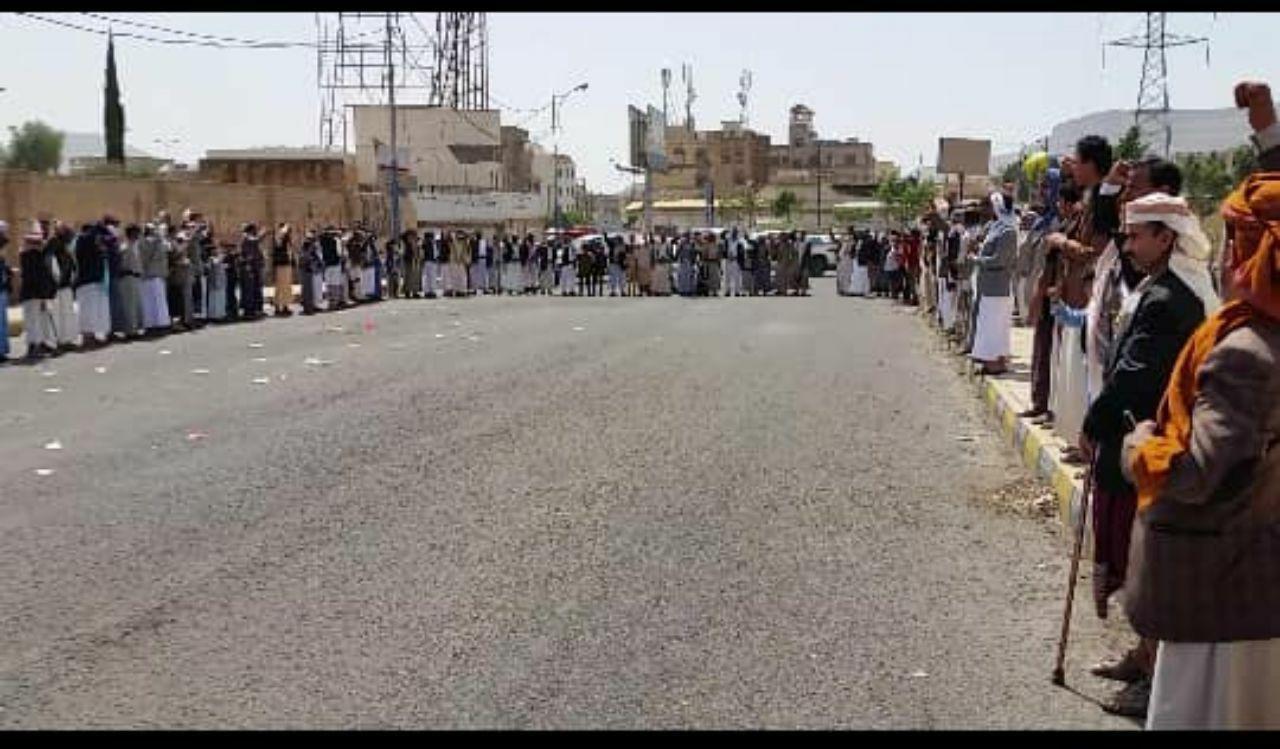 سبع وقفات احتجاجية بمديرية السبعين بأمانة العاصمة تندد بجرائم العدوان6