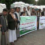 مديرية جبلة في إب تقدم قافلة غذائية لأسر المرابطين في الجبهات3