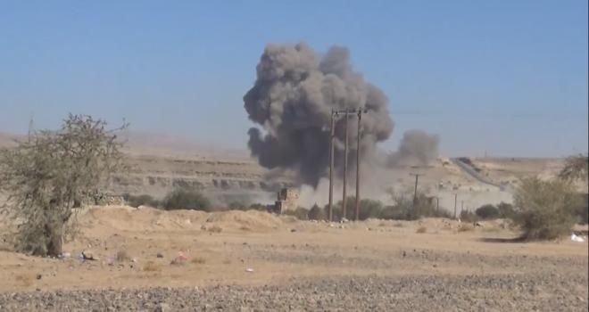 36 Air raids of the aggression warplanes on Marib ,Al-Jawf